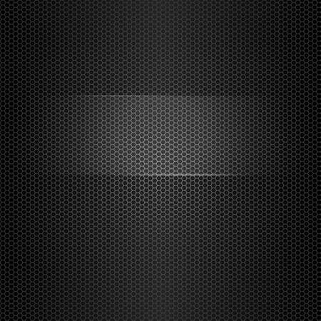 Seamless vector metal texture with highlighted frame for text Vector