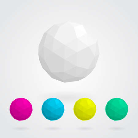 vertex: Abstract  sphere made of geometric shapes  Illustration