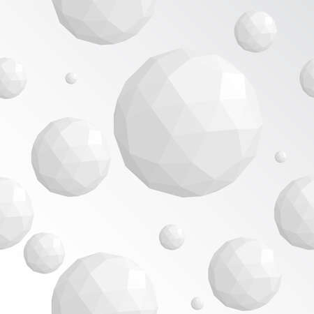 sphere: Abstract white sphere seamless pattern Illustration