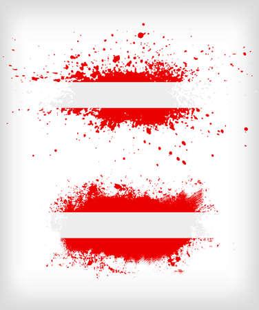 austrian: Grunge austrian  ink splattered flag vectors
