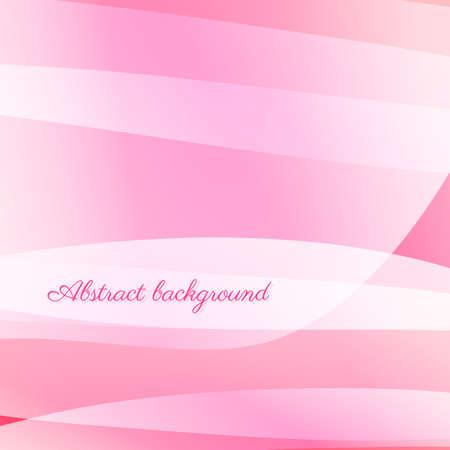 Abstract wavy vector background in pink Ilustração