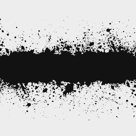 Gunge inkt spetterde achtergrond element met een ruimte voor uw tekst Stock Illustratie