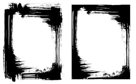 Grunge brush smear frame (2 variations) Ilustrace
