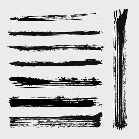 Set van grungy vectorborstels