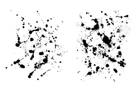 Two grungy  ink blob textures for your designs Ilustrace