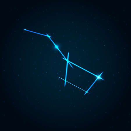 dipper: Big dipper constellation illustration