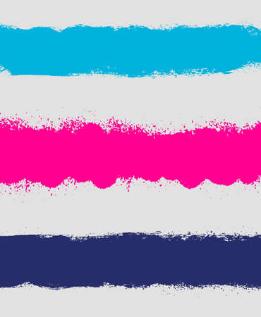 Grunge paint  stain headers, background stripes Illustration