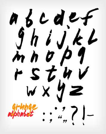 Grunge handwritten alphabet set (vector) Vector