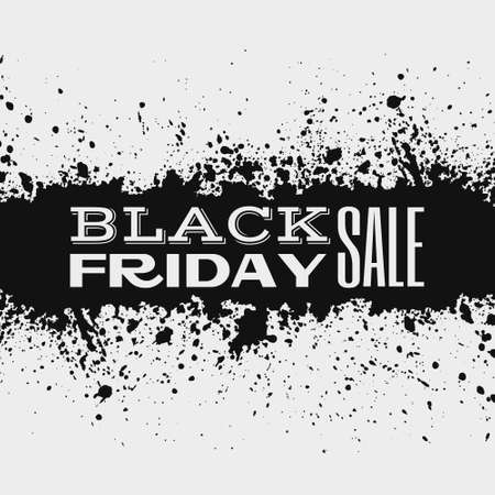 Black friday announcement on ink splatter