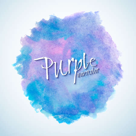 Blue and purple watercolor stain design element