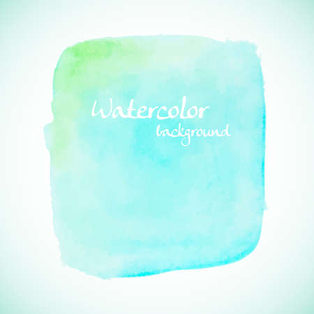 watercolor texture: Green watercolor element for summer designs