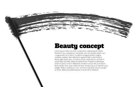 glamour makeup: Mascara brush stroke vector, beauty background