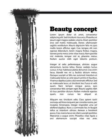 Mascara penseelstreek vector, schoonheid achtergrond Stock Illustratie