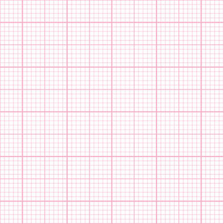 grid paper: Seamless pink millimeter paper pattern