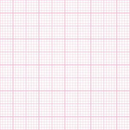millimeter: Seamless pink millimeter paper pattern