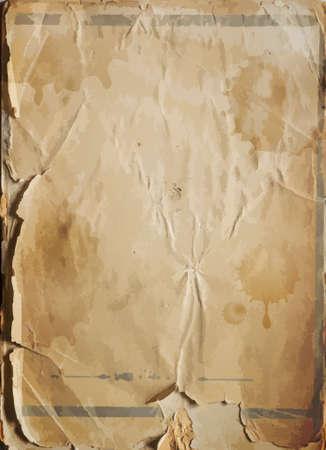 antikes papier: Alte besch�digt antiken Papier Textur, Vektor-Hintergrund Illustration