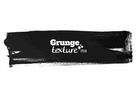 Grunge brush stroke background ribbon