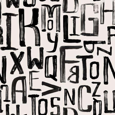 원활한 빈티지 스타일 패턴, 임의의 크기의 균일 그런 지 편지 일러스트
