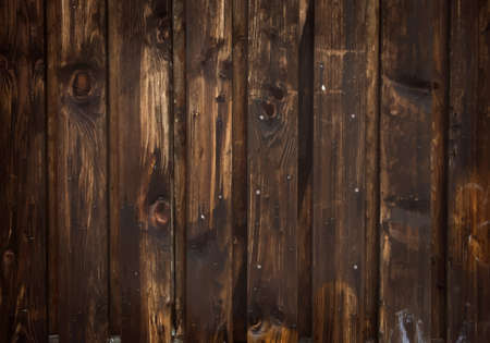 wooden planks: Dark brown wooden background vector Illustration