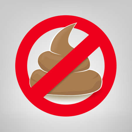 Clean up after your pet vector sign with crossed poo Illustration