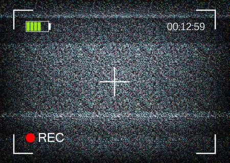 Digital camera viewfinder vector illustration Stock Illustratie
