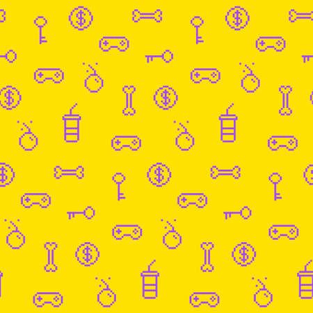 원활한 oldschool 게임 패턴, 게임 아이콘, 업적, 90 년대 배경 영감을