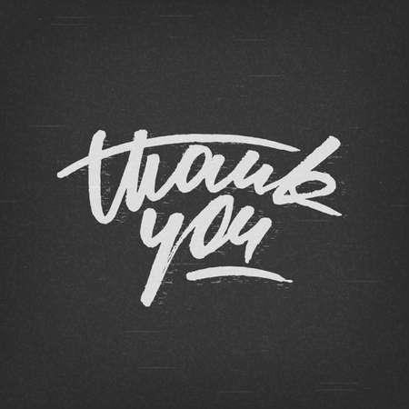 """you black: Escrita a mano """"Gracias"""" tarjeta, letras de encargo del estilo del grunge"""