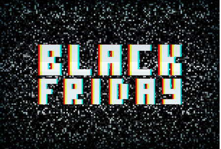 black banner: 3D stereo effect black friday banner, sale announcement for retail business