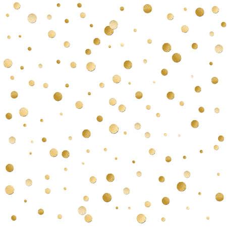 シームレスな散乱光沢のある金色ラメ水玉柄