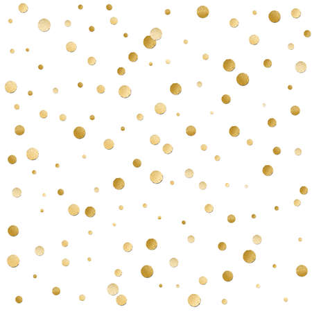Naadloze verspreid glanzende gouden glitter stippatroon