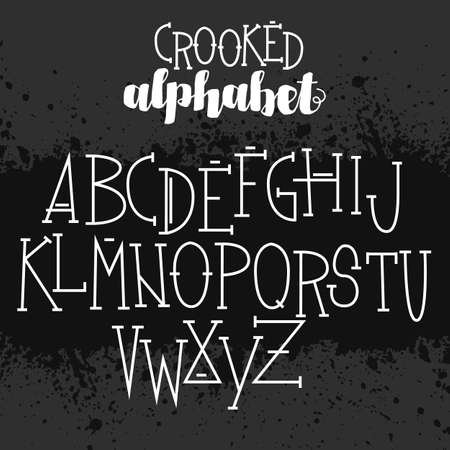 crooked: Creepy set of voodoo letters for your halloween designs