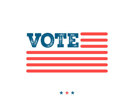 primaries: Vote. Typographic illustration about the importance of voting