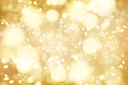 bright lights: golden bokeh background. abstract defocused bright lights Illustration