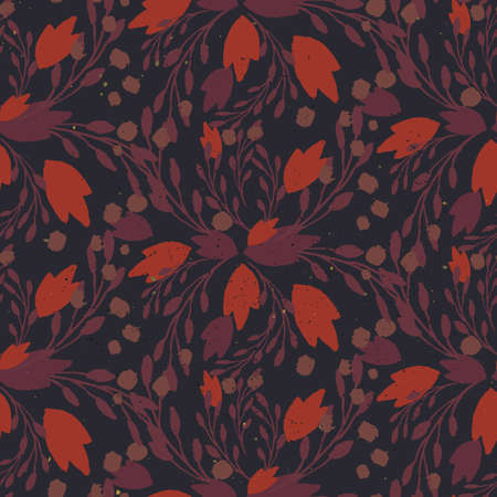 muted: Organic floral pattern in muted warm colors