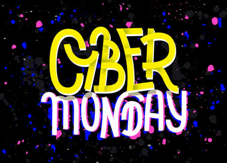glitch: Cyber Monday lettering with a glitch effect on dark background