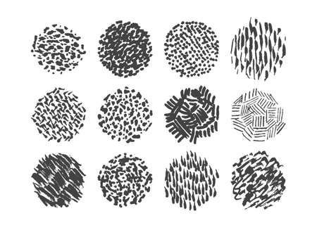 rough: Pen scribble brush pack, various textures for illustration shading Illustration