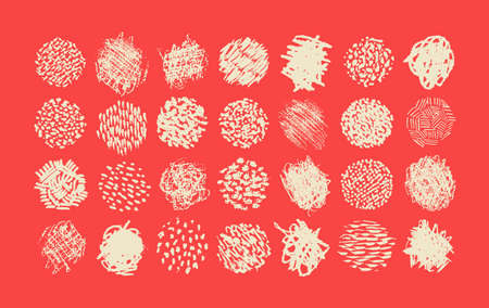 garabatos: Pluma y lápiz garabato paquete de cepillo, diferentes texturas para la ilustración de sombreado Vectores