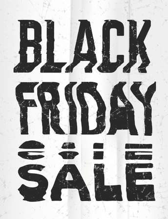 Black Friday Sale glitch art typographic poster. Glitchy words for retail sale announcement Illusztráció