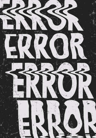 Glitched error message art typographic poster. Glitchy words for your creative designs