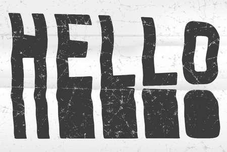 phrases: Hello glitch art typographic poster. Glitchy word for your creative designs