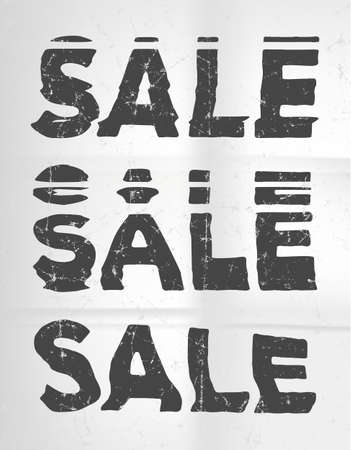 jammed: Sale  glitch art typographic poster. Glitchy words for retail sale announcement