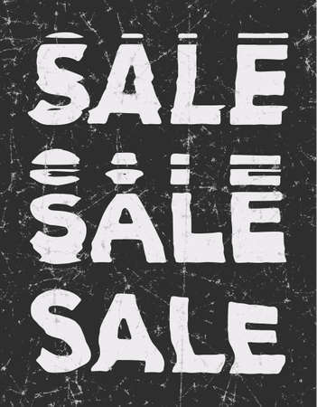 Sale  glitch art typographic poster. Glitchy words for retail sale announcement