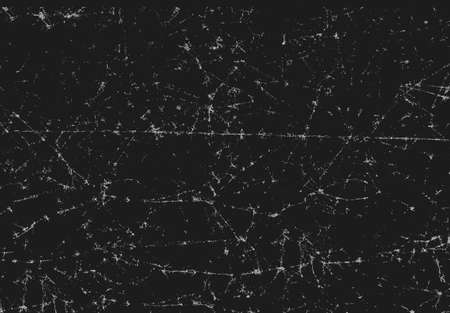 Black texture of scanned folded cracked and crumpled paper Illustration