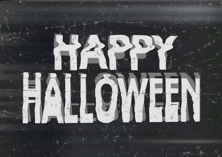 jammed: Bad jammed distorted  photocopy style spooky Happy Halloween typography Illustration