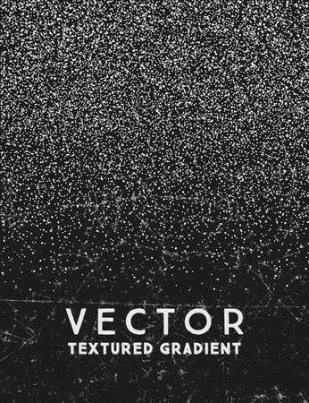 Monochrome gradient stippled texture, noir abstrait
