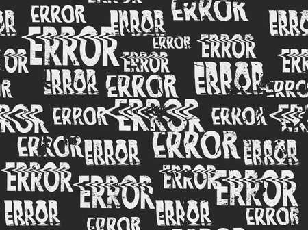 Glitched error message art typographic pattern. Glitchy words for your creative designs Иллюстрация