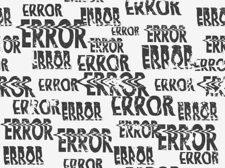 Glitched error message art typographic pattern. Glitchy words for your creative designs Illusztráció