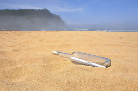 message in a bottle. Stock Photo - 9882075