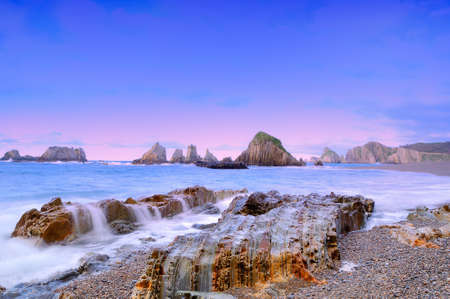Coastal landscape with the sea silk. Banco de Imagens - 9994721