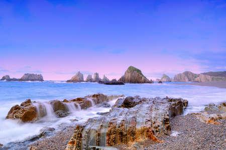 Coastal landscape with the sea silk.